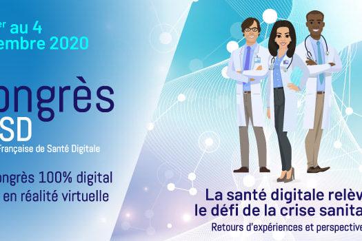 Le 13ème congrès de la Société Française de Santé Digitale.